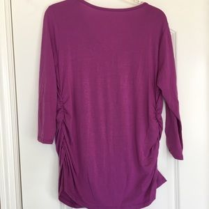 709776946a9ab Liz Lange for Target Tops - Purple Maternity shirt 3 4 length sleeve